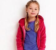 Mim-Pi traumhaft weiche Niki Jacke Sterne mit großem Herz Ton in Ton - Pink
