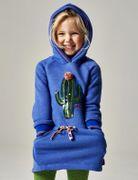Oilily Kapuzen Kleid Kaktus mit Bommel - Blau