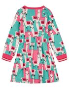 Oilily Jersey Kleid TEXAS Lama - Grün Pink