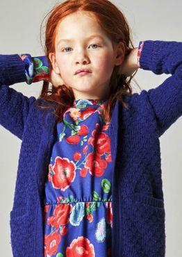 Oilily Jersey Kleid TEXAS Flowers - Blau Rot