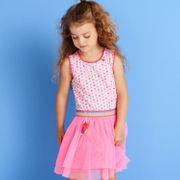 Mim-Pi Kleid mit Tüllrock - Rosa