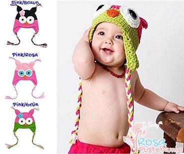 Eulen Mütze für Mädchen verschiedene Farben
