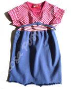 Europe Kids Kleid mit Herzen - blau pink