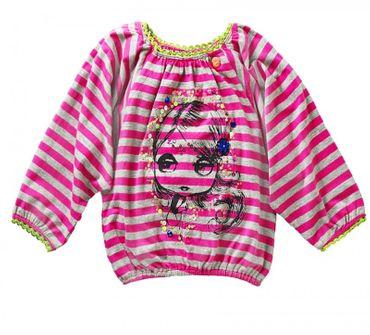 Mim-Pi Langarmshirt mim-19 pink grau