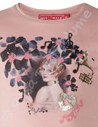 Muy Malo T- Shirt Girl in Flowers quartz pink - rosa
