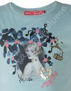 Muy Malo T- Shirt Girl in Flowers nile blue - blau