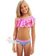 Mim-Pi Bikini Volant - pink blue