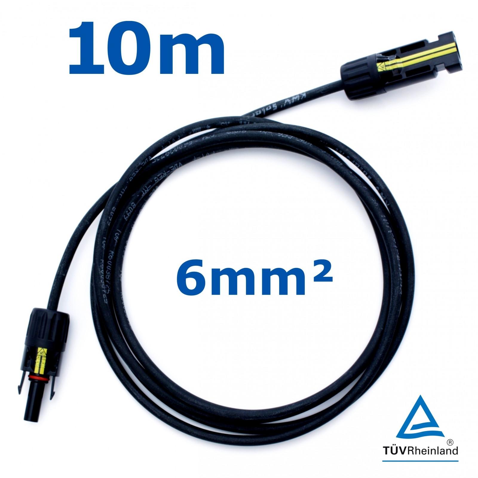 10 m solarkabel pv kabel 6 mm rot schwarz mit buchse und stecker mc4 kompatibel ebay. Black Bedroom Furniture Sets. Home Design Ideas