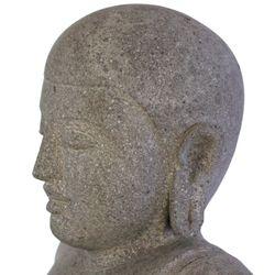 Wuona Objects balinesische Buddha Statue 68 cm Lavastein Steinskulptur sitzend betend Bild 4