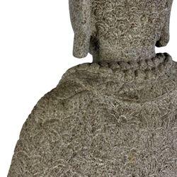 Balinesische Buddha Statue 65 cm Lavastein Steinskulptur sitzend Bild 8