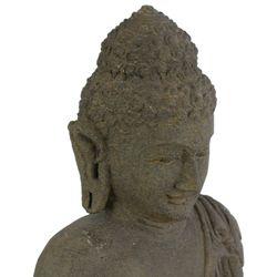 Balinesische Buddha Statue 83 cm Stein-Skulptur stehend Bild 3
