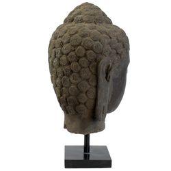 Buddha Kopf aus Lavastein 54 cm Bali Steinfigur Büste 006