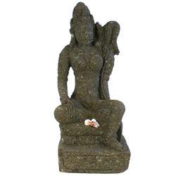 Balinesische Statue Reisgöttin Dewi Sri 87 cm Stein Skulptur sitzend