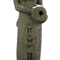 Balinesische Statue Wassergöttin Dewi Gentong 150 cm Stein Skulptur stehend 003