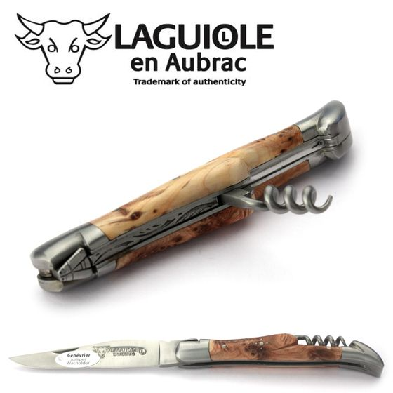 Laguiole en Aubrac - Wacholder - Korkenzieher - 11 cm Taschenmesser – Bild 4