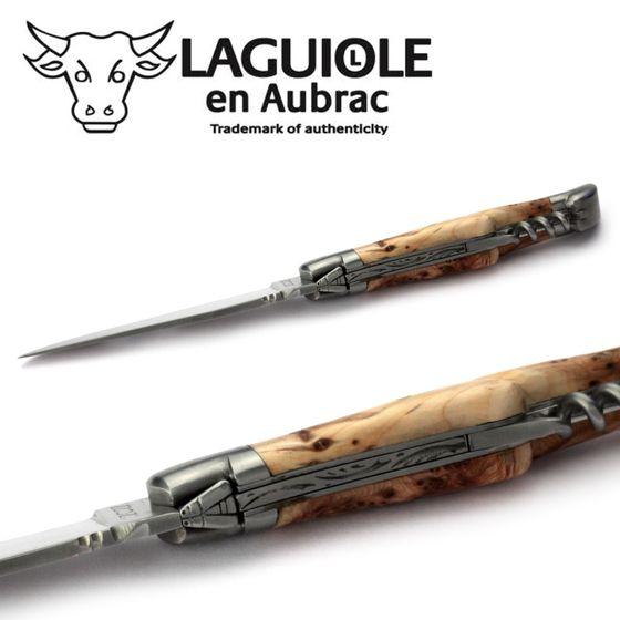 Laguiole en Aubrac - Wacholder - Korkenzieher - 11 cm Taschenmesser – Bild 5