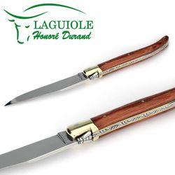 Laguiole Honoré Durand - Griff Rosenholz - 12 cm Taschenmesser – Bild 3