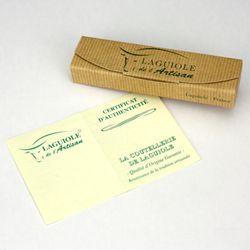 Laguiole Honoré Durand - Griff Horn - 12 cm Taschenmesser - Klinge und Backen Stahl glänzend – Bild 4