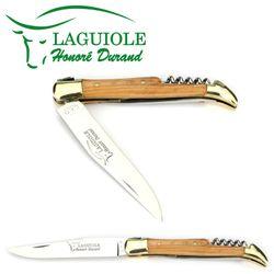 Laguiole Honoré Durand - Griff Olivenholz - Korkenzieher - Dorn - 12 cm Messer – Bild 3