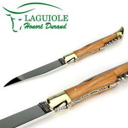 Laguiole Honoré Durand - Griff Olivenholz - Korkenzieher - Dorn - 12 cm Messer – Bild 5