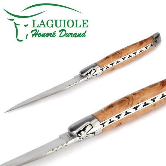 Laguiole Honoré Durand - Griff Wacholder - 12 cm Taschenmesser – Bild 3
