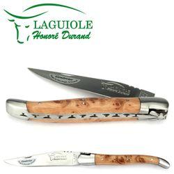 Laguiole Honoré Durand - Griff Wacholder - 12 cm Taschenmesser – Bild 1