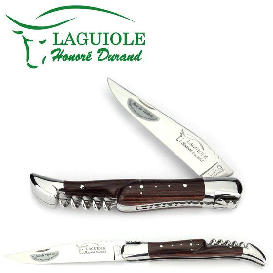 Laguiole Honoré Durand - Griff Violettholz - 12 cm Messer - Korkenzieher – Bild 1