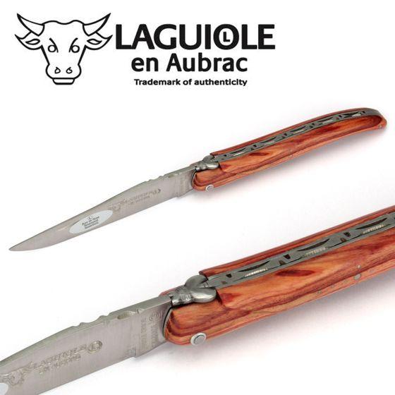 Laguiole en Aubrac - Griff Rosenholz - Taschenmesser 12 cm – Bild 3