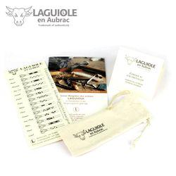 Laguiole en Aubrac - Büffelhorn - Doppelplatine - 12 cm Taschenmesser – Bild 6