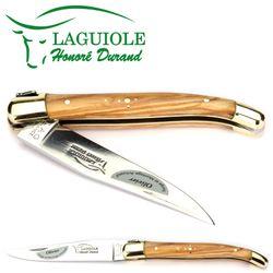 Laguiole Honoré Durand - Griff Olivenholz - 11 cm Taschenmesser – Bild 2