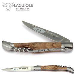 Laguiole en Aubrac - Walnussholz - Korkenzieher - 12 cm Taschenmesser – Bild 1