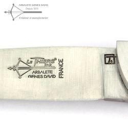 Arbalete G. David Thiers - Eichenholz - 12 cm Taschenmesser – Bild 5