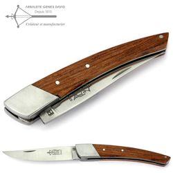 Arbalete G. David Thiers - Bubinga Holz - 12 cm Taschenmesser - Backe Edelstahl – Bild 1