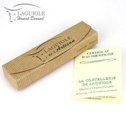 Laguiole Honoré Durand - Hornspitze - 11 cm Taschenmesser - Messer Klinge und Backen glänzend – Bild 6
