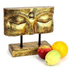 Buddha Augen Skulptur - Gr. S 30 cm - gold 002