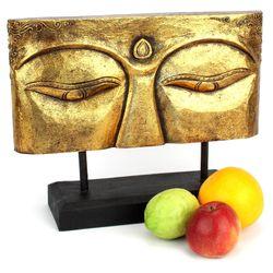 Buddha Figur Augen Relief - Gr. L 40 cm - gold 002