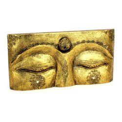 Buddha Augen Wandmaske - Gr. L 50 cm - gold