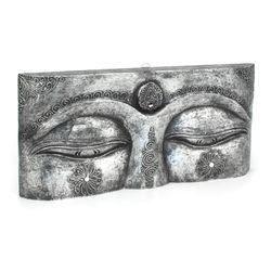Buddha Augen Wandmaske - Gr. L 50 cm - silber