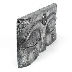 Buddha Augen Wandmaske - Gr. L 50 cm - silber 003