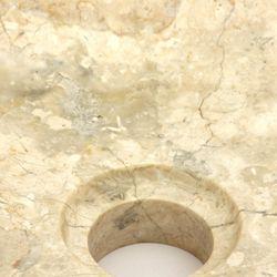 Wuona Objects 40cm Handwaschbecken Aufsatzwaschbecken heller Marmor innen und außen poliert Bild 4