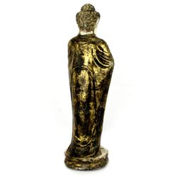 Buddha Figur 70 cm Lava Guss - gold / weiß 004