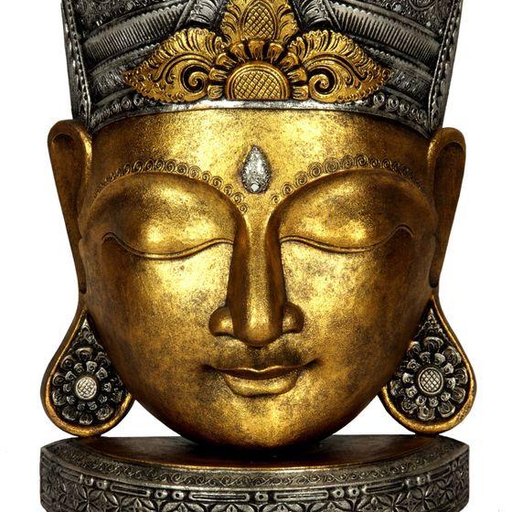 buddha kopf holz maske stand figur xxl ca 135 cm. Black Bedroom Furniture Sets. Home Design Ideas