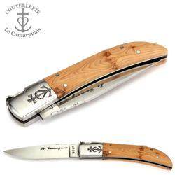 Le Camarguais - Wacholder - 12 cm Taschenmesser - Backe matt – Bild 4