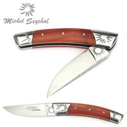 Michel Seychal Thiers BELEN - Griff Rosenholz - 12 cm Taschenmesser – Bild 2