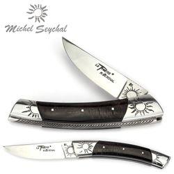 Michel Seychal Thiers BELEN - Griff Büffelhorn mit Kruste - 12 cm Taschenmesser – Bild 1