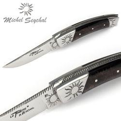 Michel Seychal Thiers BELEN - Griff Büffelhorn mit Kruste - 12 cm Taschenmesser – Bild 3