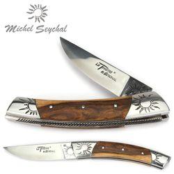 Michel Seychal Thiers BELEN - Griff Pistazienholz - 12 cm Taschenmesser – Bild 1