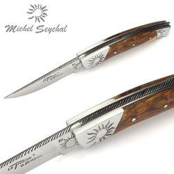 Michel Seychal Thiers BELEN - Griff Pistazienholz - 12 cm Taschenmesser – Bild 3