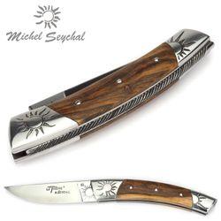 Michel Seychal Thiers BELEN - Griff Pistazienholz - 12 cm Taschenmesser – Bild 5
