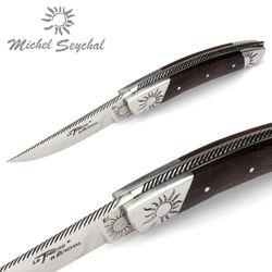 Michel Seychal Thiers BELEN - Griff Palisander - 12 cm Taschenmesser – Bild 3